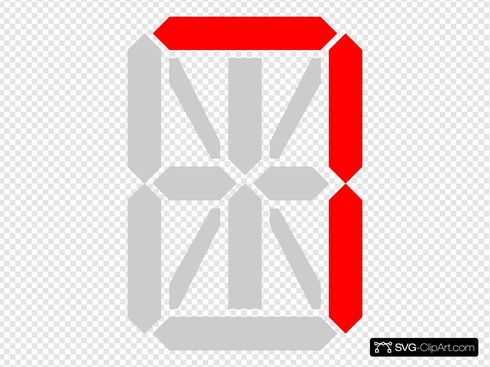 Segment Display Clip art, Icon and SVG - SVG Clipart