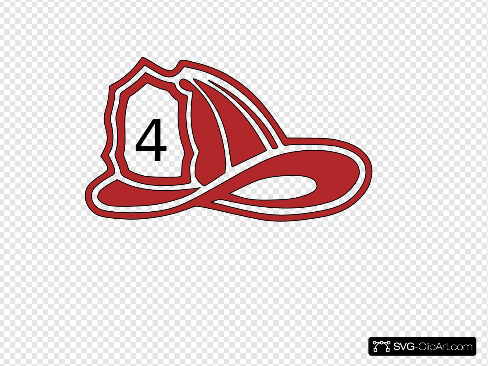 Red Fire Truck Hat 4 Svg Vector Red Fire Truck Hat 4 Clip Art Svg Clipart