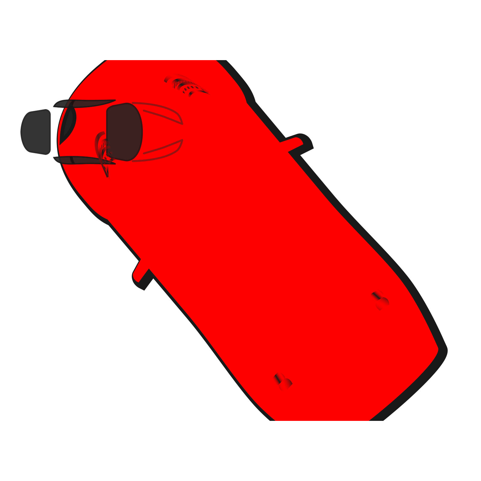 Red Car Top View 130 Clip Art Icon And Svg Svg Clipart