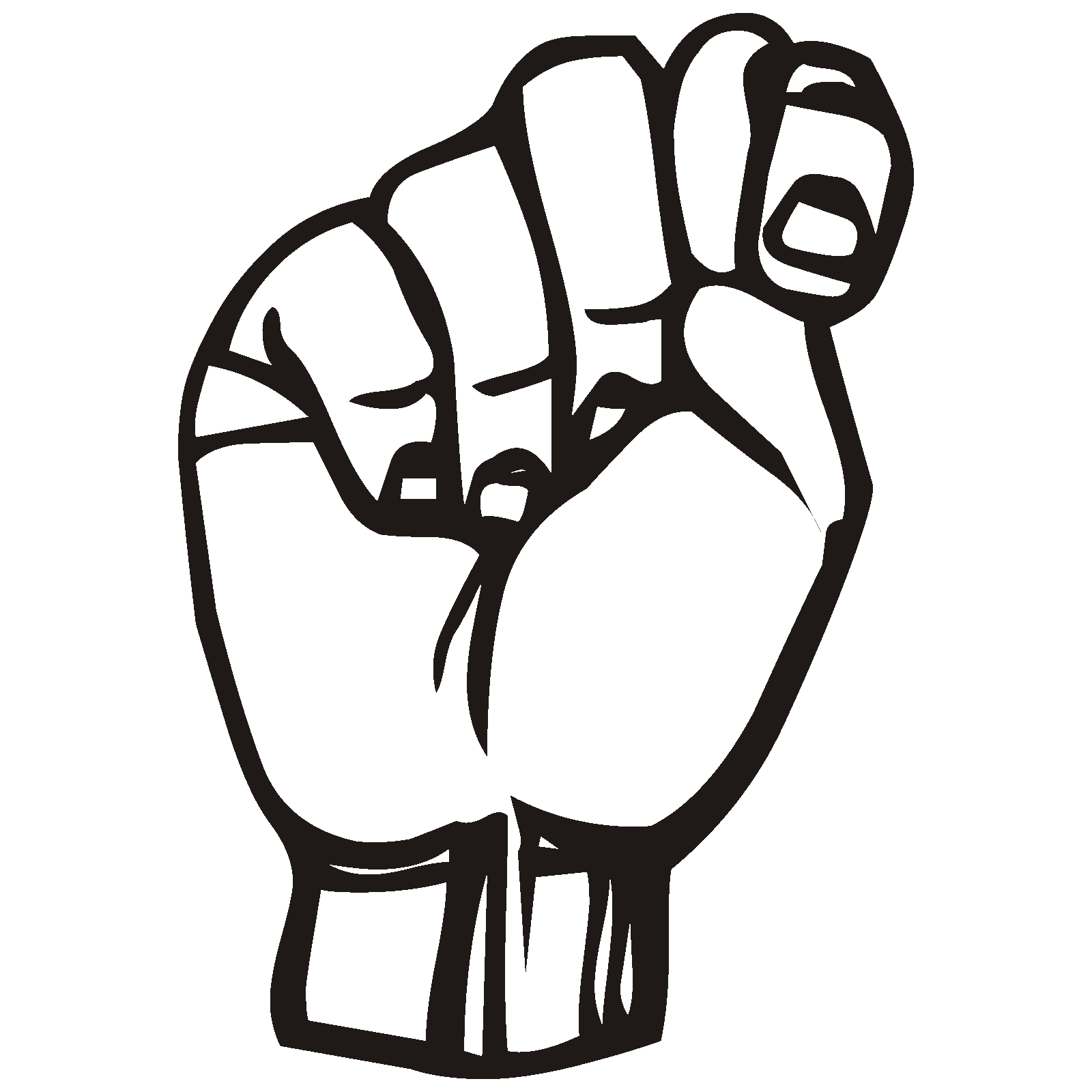 Sign Language T Clip art, Icon and SVG - SVG Clipart