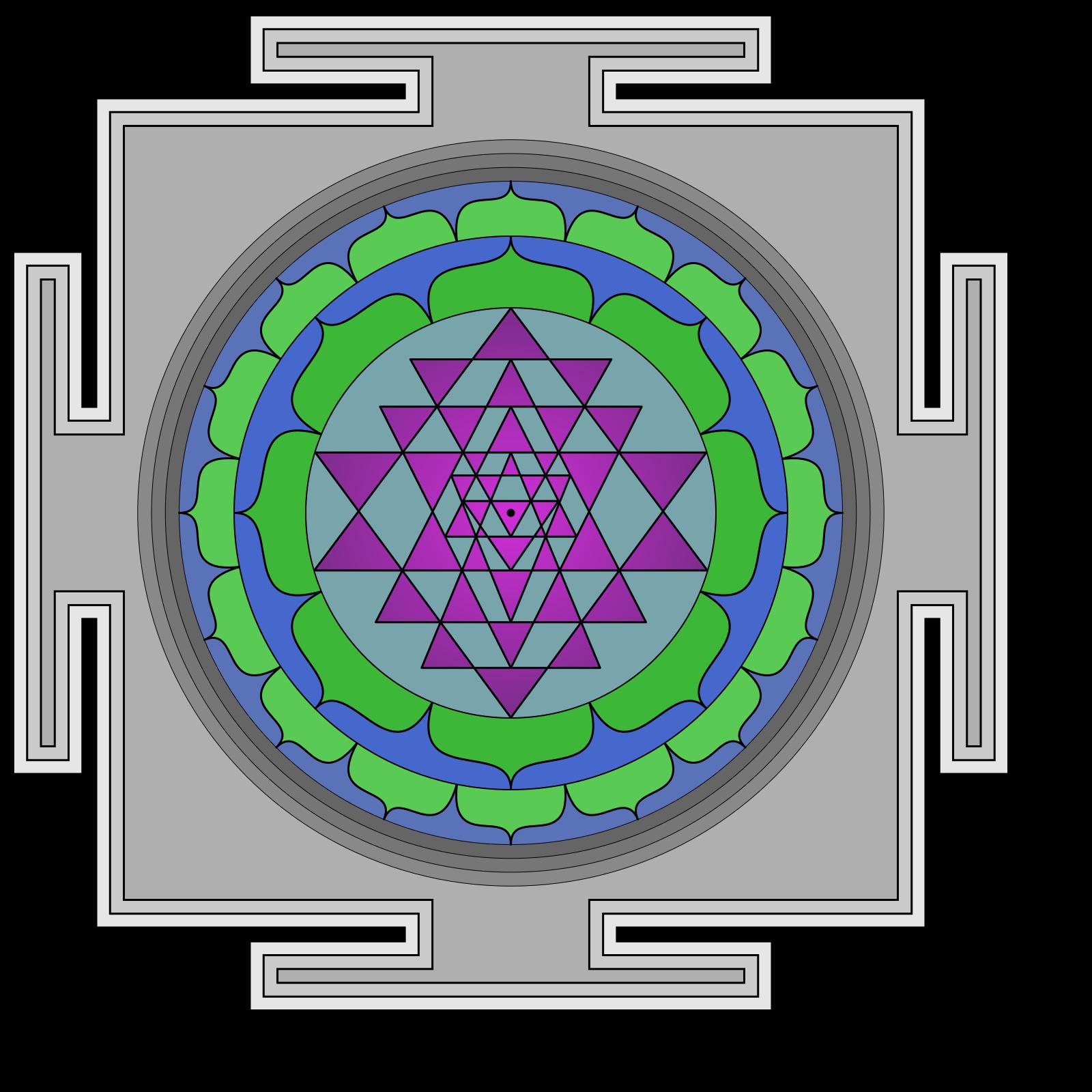 Sri Yantra Clip art, Icon and SVG - SVG Clipart