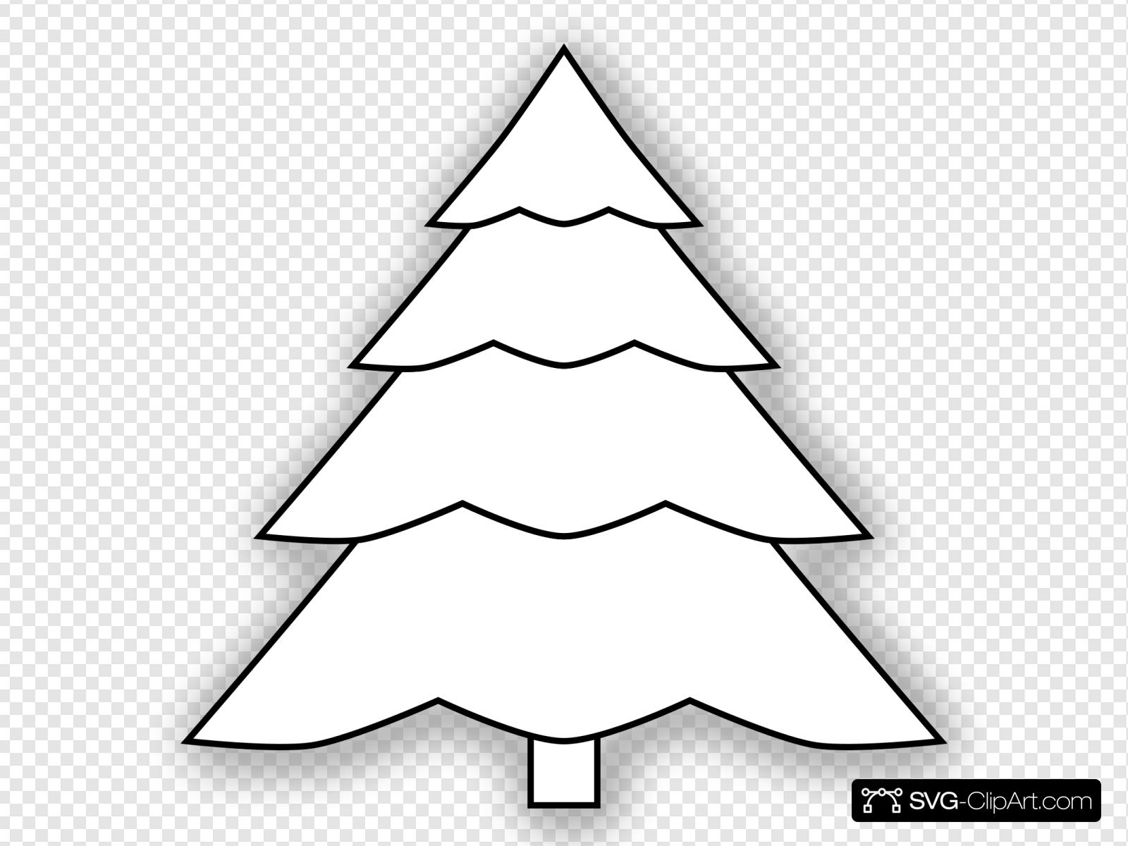 Christmas Tree Outline.Christmas Tree Outline Clip Art Icon And Svg Svg Clipart