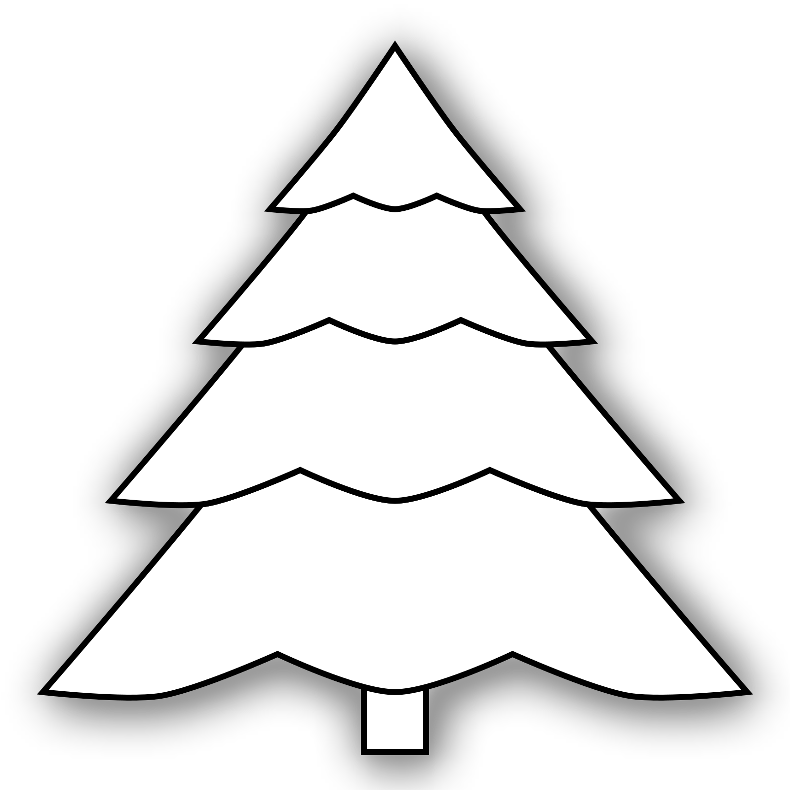 Christmas Tree Clipart Outline.Christmas Tree Outline Clip Art Icon And Svg Svg Clipart