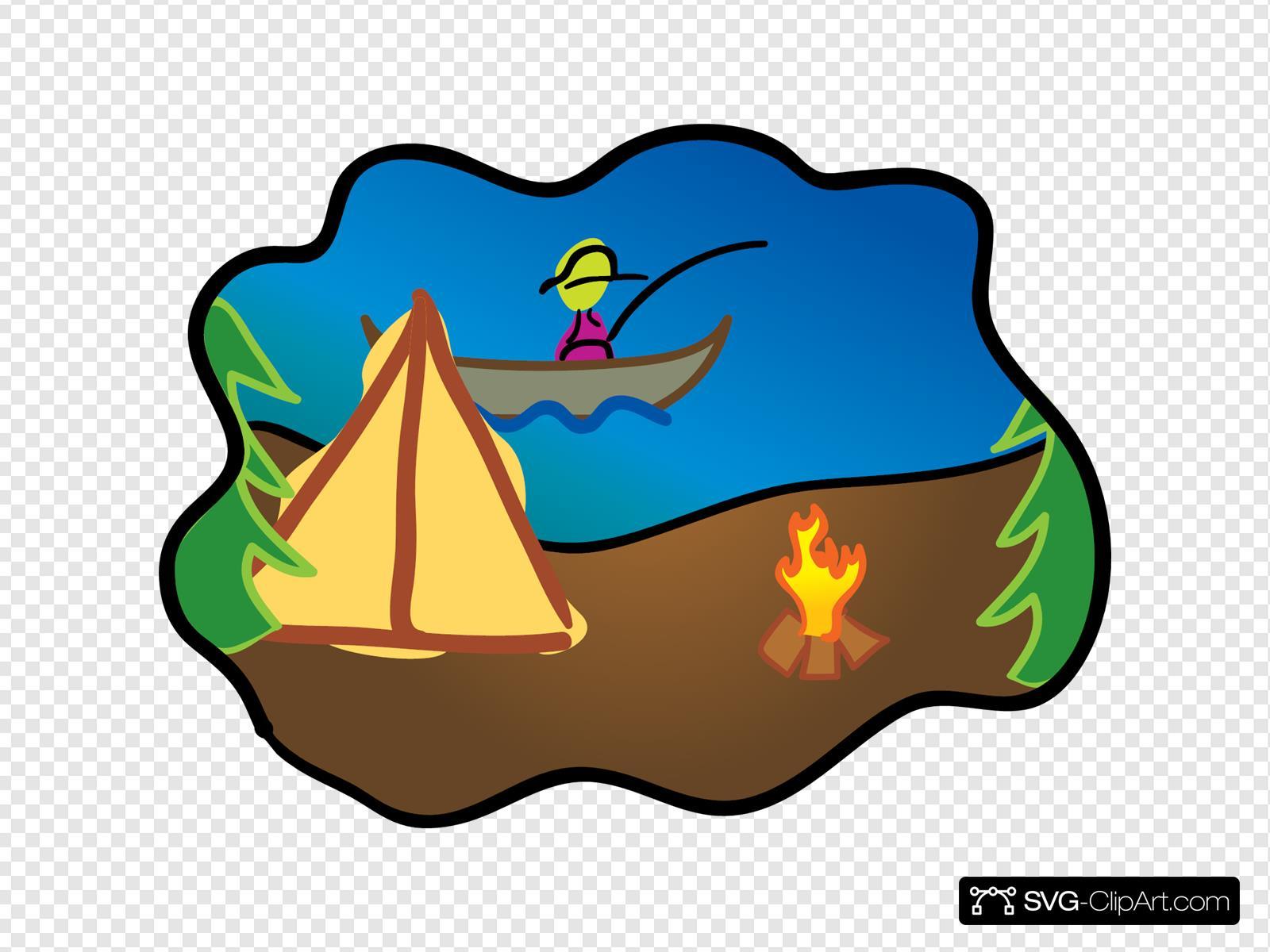 Camping Scene Svg Vector Camping Scene Clip Art Svg Clipart