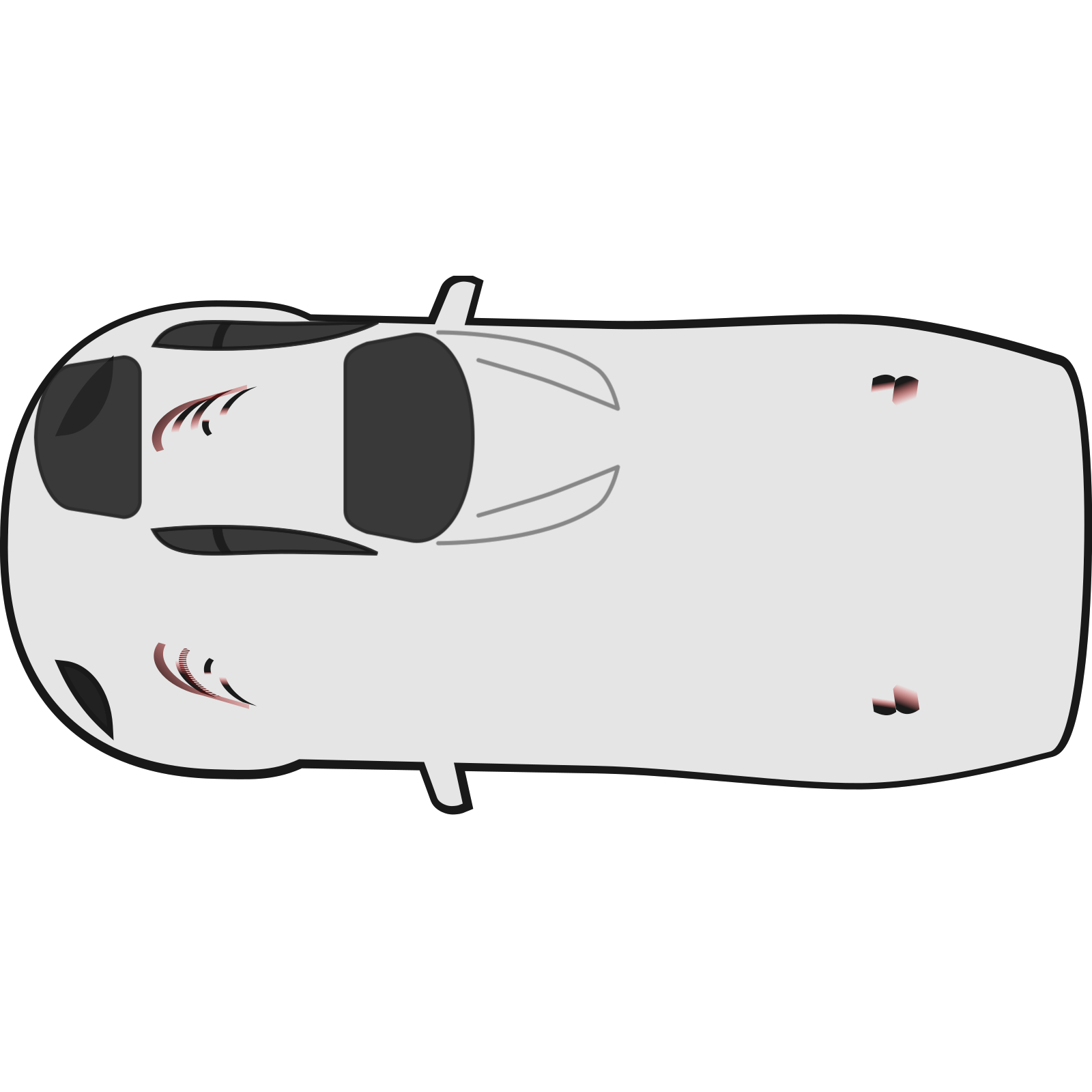 White Car Top View Heading West Clip Art Icon And Svg Svg Clipart