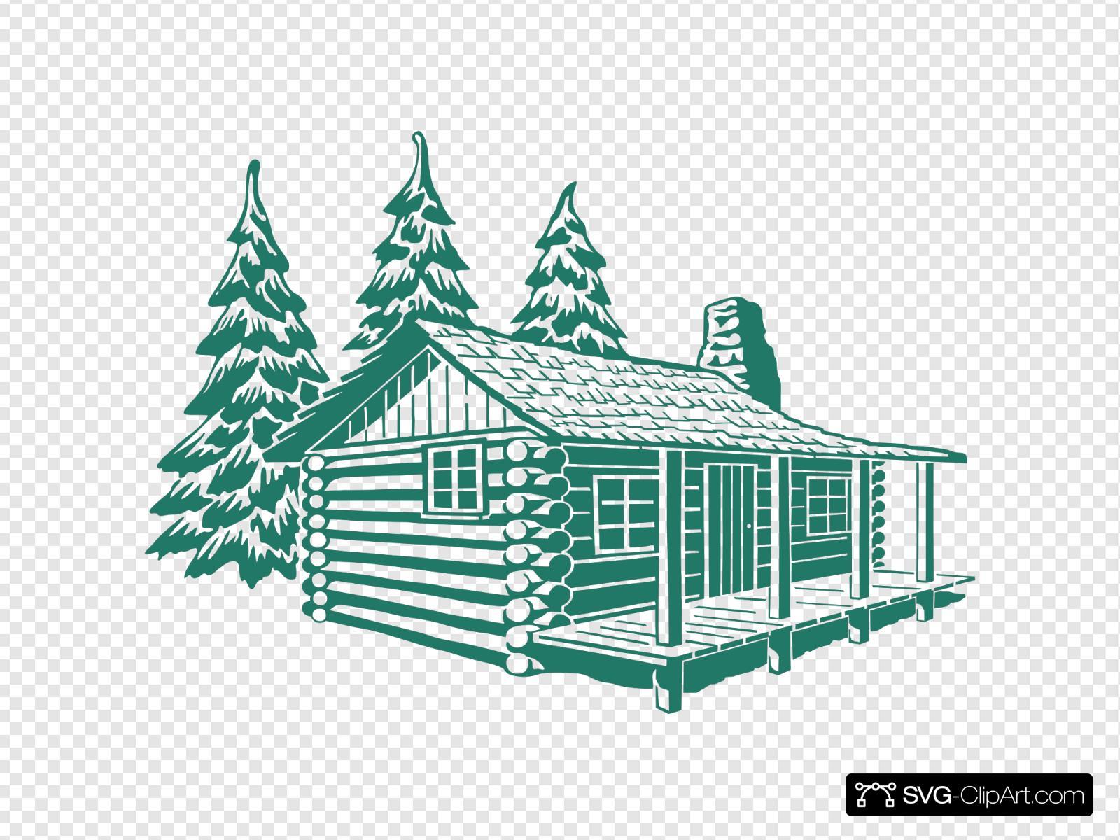 Log Cabin Svg Vector Log Cabin Clip Art Svg Clipart