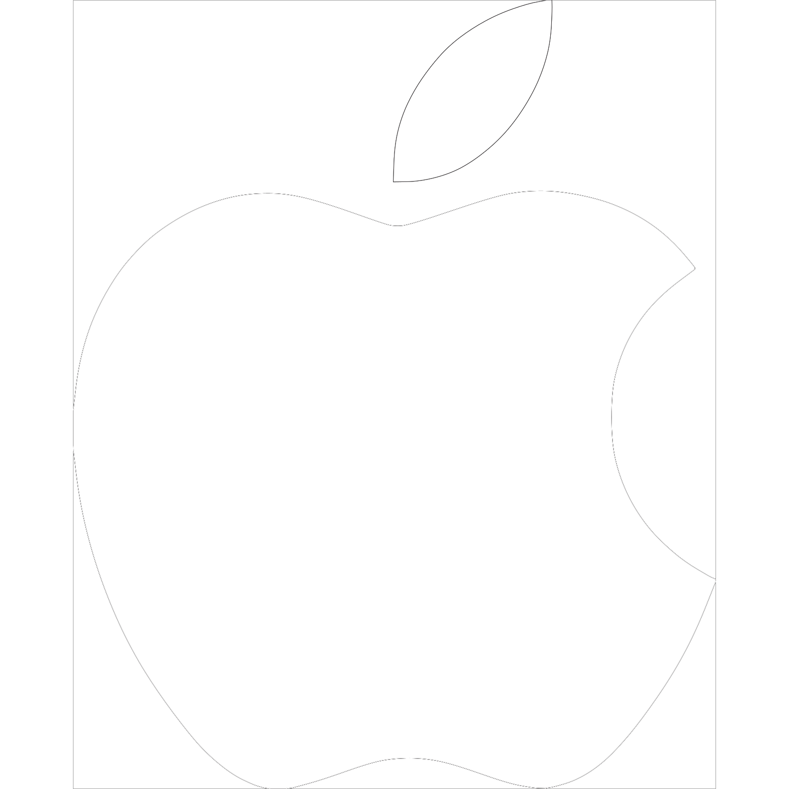 Apple Logo White Clip Art Icon And Svg Svg Clipart