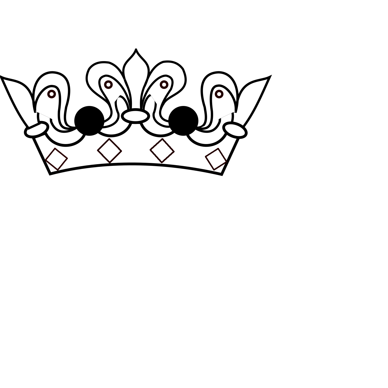 White Crown Svg Vector White Crown Clip Art Svg Clipart