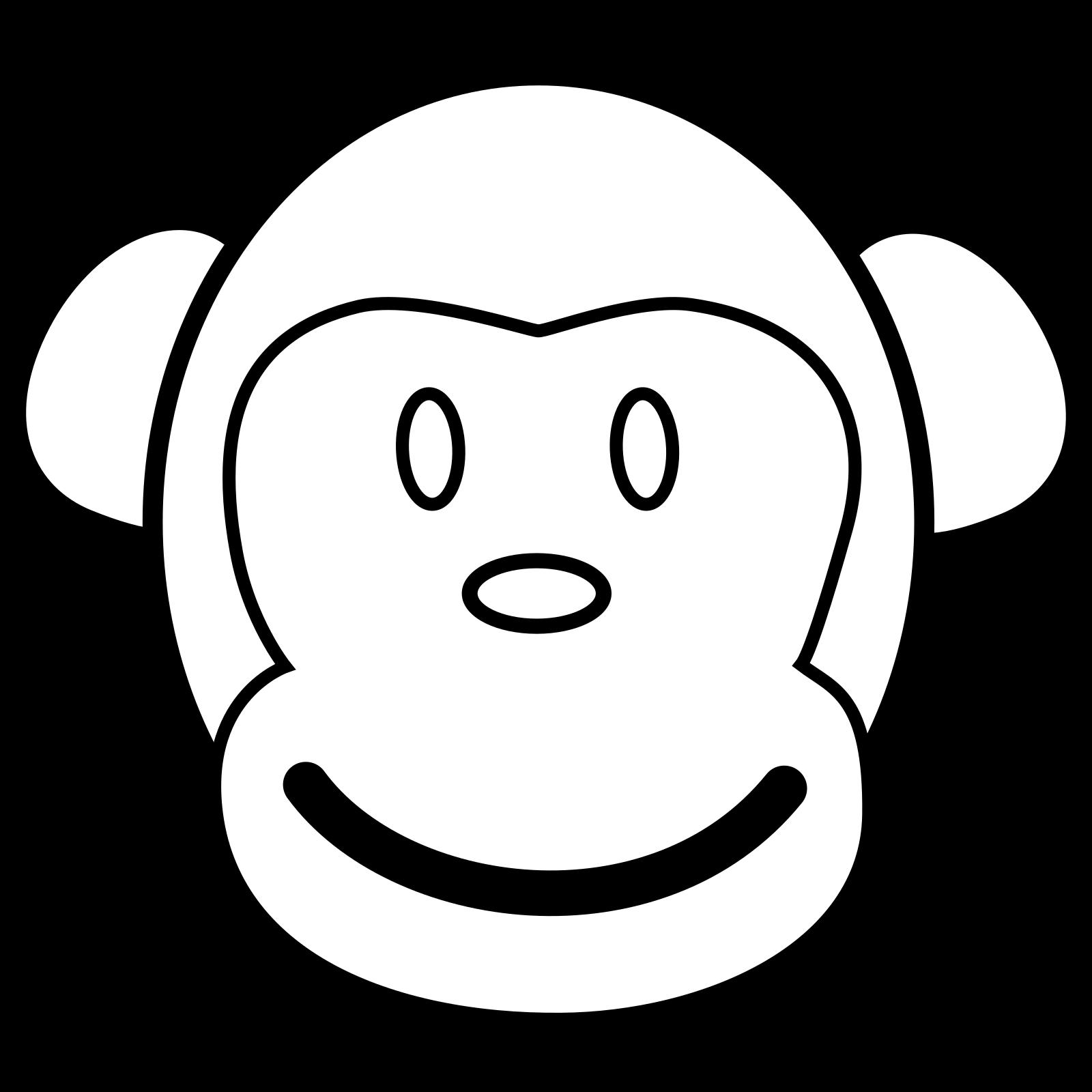 Monkey Face Svg Vector Monkey Face Clip Art Svg Clipart