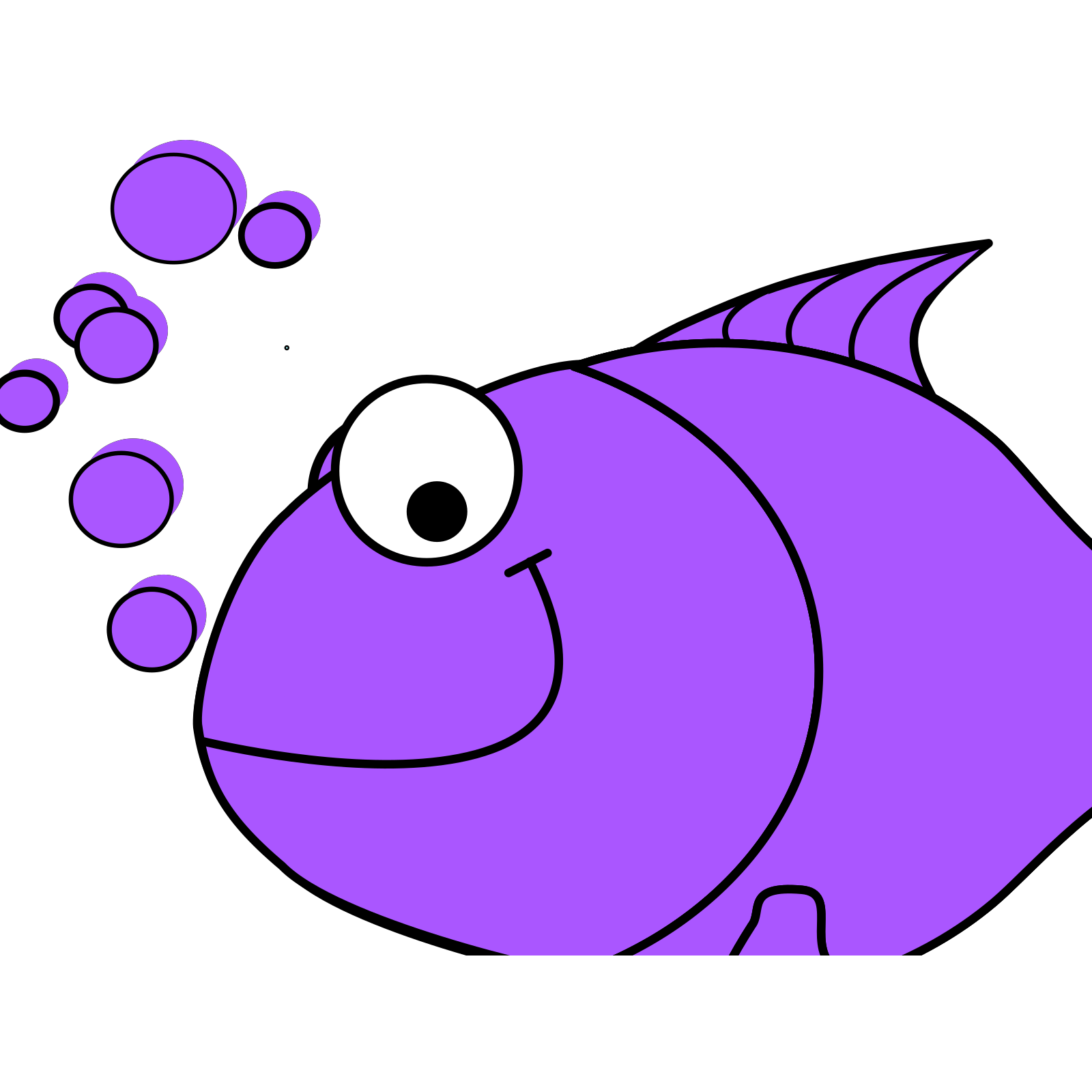 Purple Fish SVG Vector, Purple Fish Clip art - SVG Clipart