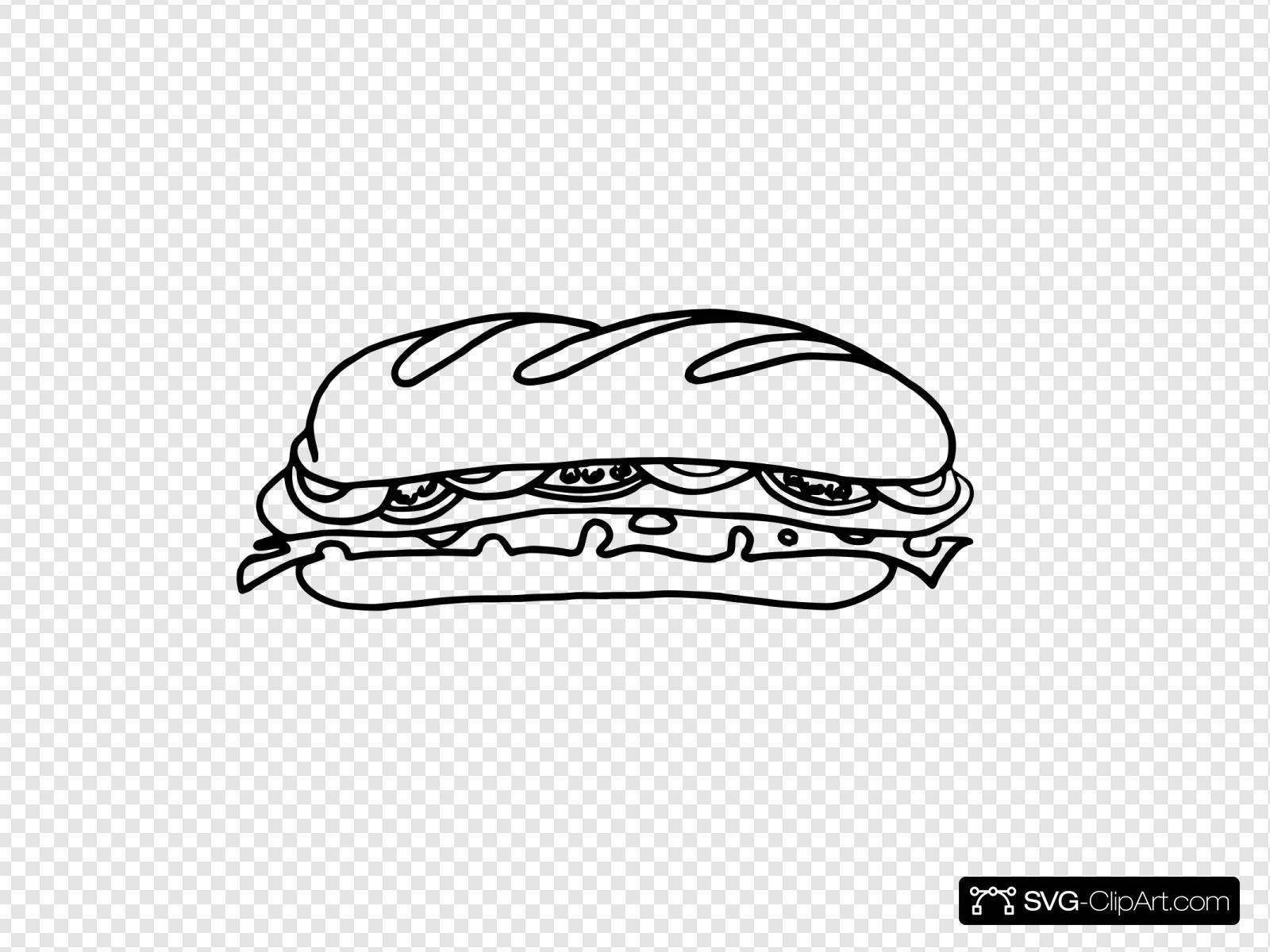 sandwich one bw svg vector sandwich one bw clip art svg clipart sandwich one bw clip art svg clipart