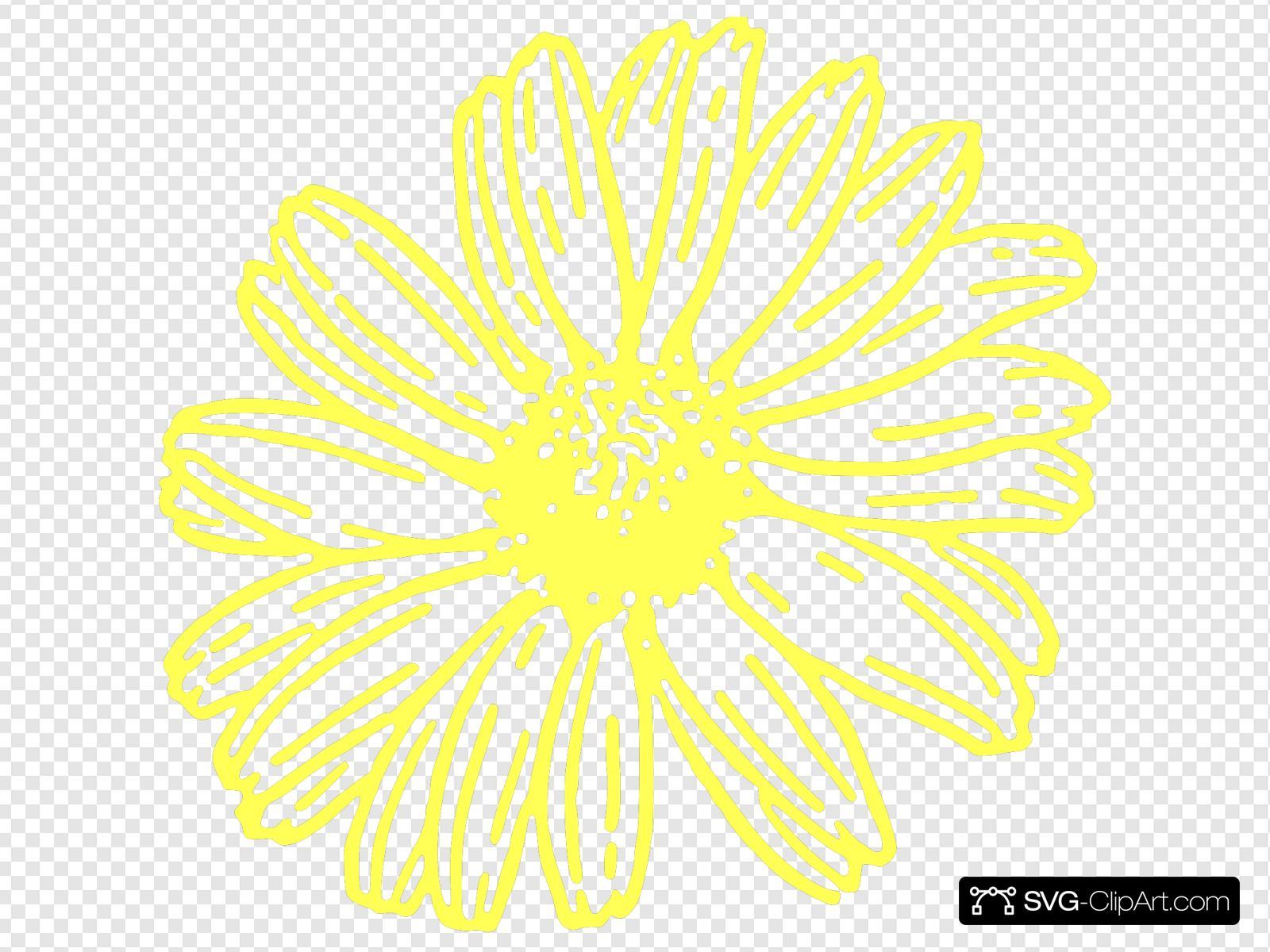 Yellow Daisy Clip Art