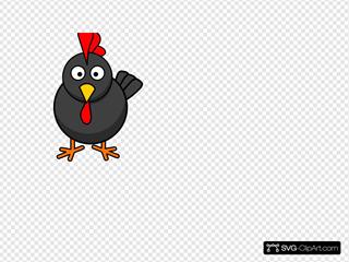 Black Rooster Cartoon
