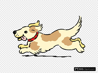 Happy Running Dog