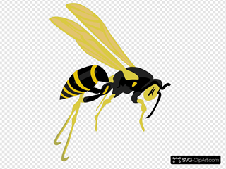 Flying Wasp 2 SVG Clipart