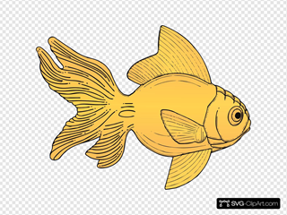 Golden Fish SVG Clipart
