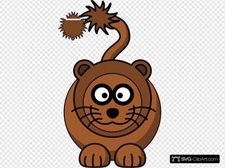 Simple Cartoon Lion