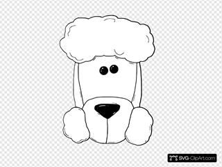 Dogface3 Outline SVG Clipart