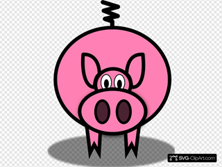 Simple Cartoon Pig