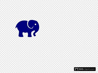 Royal Blue Elephant SVG Clipart