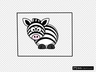 Zebra 2 SVG Clipart
