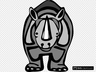 Cartoon Rhinoceros