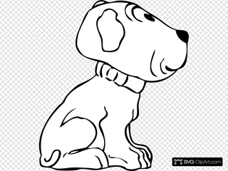 Puppy Side View SVG Cliparts