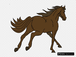 Running Horse 2 SVG Clipart