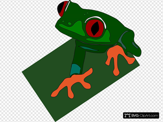 Red Eyed Frog SVG Cliparts