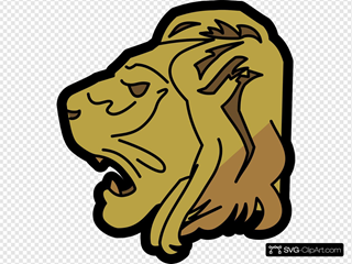 Lion Head SVG Clipart