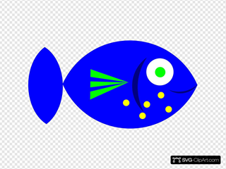 Blue Fish SVG Clipart