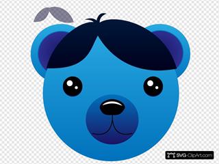 Blue Male Bear
