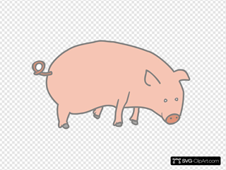 Pig 5 SVG Cliparts
