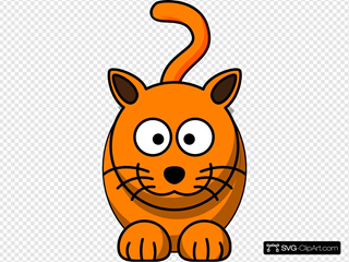 Orange Feline Clipart