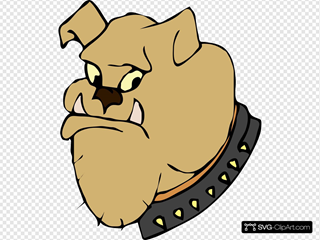Cartoon Bulldog Head