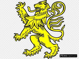 Gold Lion Symbol