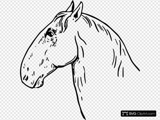Ram Headed Horsehead SVG Clipart