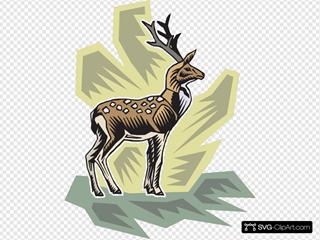 Stylized Deer Art