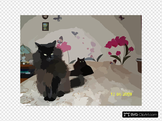 Sitting Black Cat SVG Cliparts