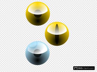 Three Eyes SVG Clipart