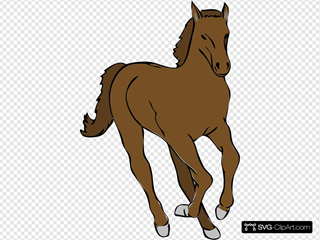 Running Horse 3 SVG Clipart