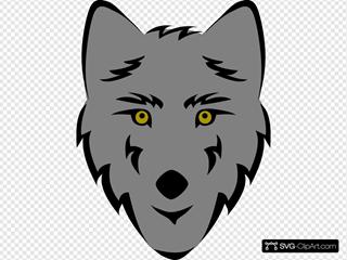 Gray Wolf Head