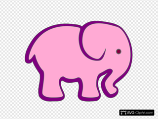Pink And Purple Elephant
