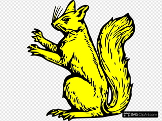 Gold Squirrel Symbol