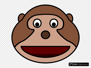 Monkey Head SVG Clipart