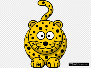 Simple Cartoon Leopard