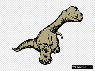 Dinosaur Sideview SVG Clipart