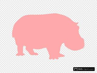 Hippo Silhouette SVG Clipart