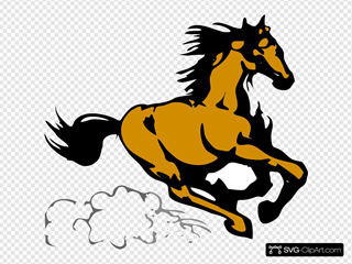 Running Horse 4 SVG Clipart