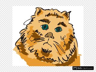 Cat Head Art